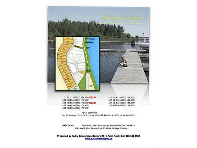 Lot 11, Heritage Estates, Buck Lake, Alberta Es, Rural Wetaskiwin County, Alberta  T0C 0T0 - Photo 13 - E3266215